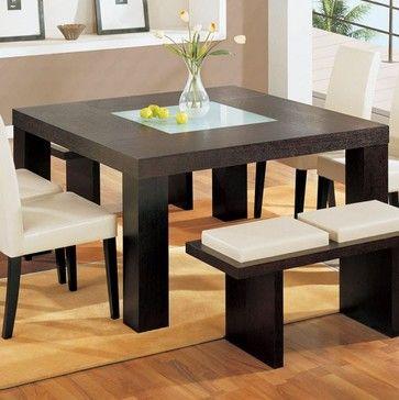 Global Furniture Square Dining Table In Wenge Dg020dt Modern Dining Tables Salt Lake Cit Brown Dining Room Set Square Dining Tables Brown Dining Room