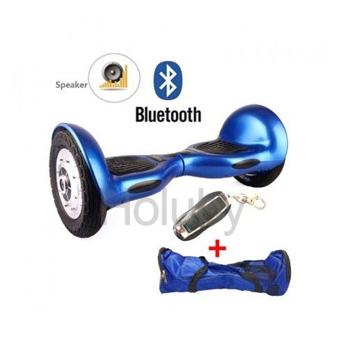 10 Inch Electric Self Balancing Scooter Hoverboard Drifting Board with Bluetooth Speaker& Remote Control Blue