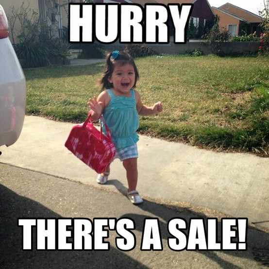 Baby clothes shopping meme