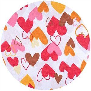 Shannon Fabrics, Silky Satin, Heart 2 Heart Red/Gold