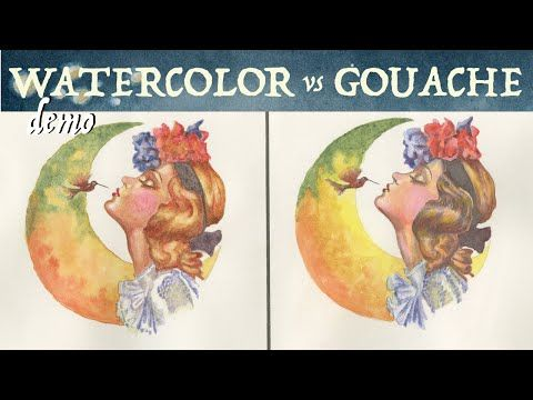 Watercolor Vs Gouache Painting With Grisaille Youtube Really
