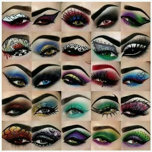 cool easy halloween eye makeup halloween eye makeup ideas amazing and scary eye makeups for - Scary Halloween Eye Makeup