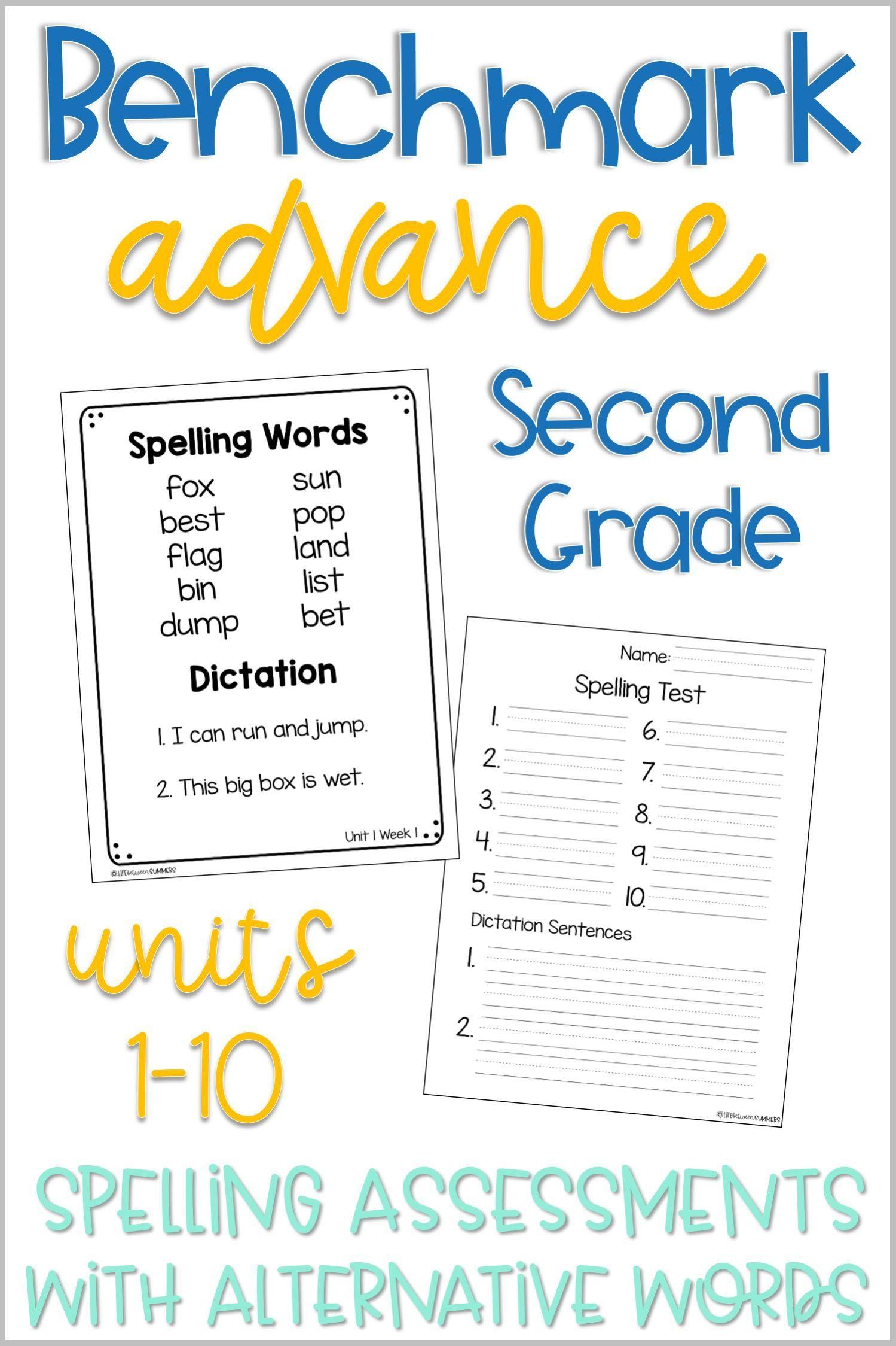 Benchmark Advance 2nd Grade Spelling Tests Alternative
