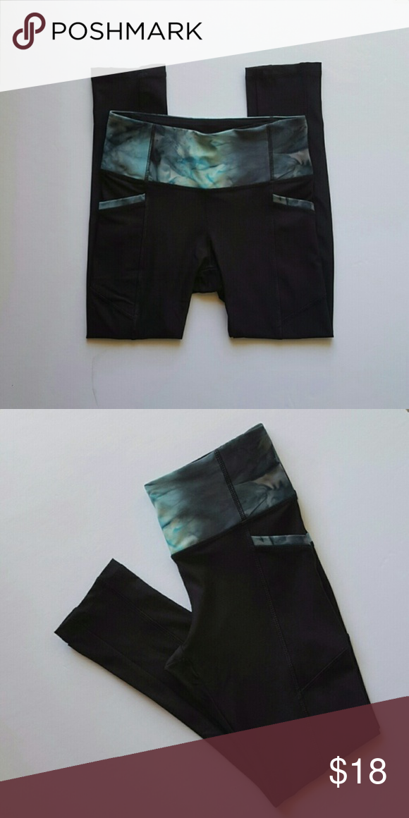 835ac3fcc3 NWOT Zenana Outfitters Compression Leggings Black comression leggings with  mottled turquoise band and pocket trim Zenana Outfitters Pants Track Pants  & ...
