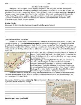 northwest passage french and dutch exploration worksheet colonies worksheets explore north. Black Bedroom Furniture Sets. Home Design Ideas