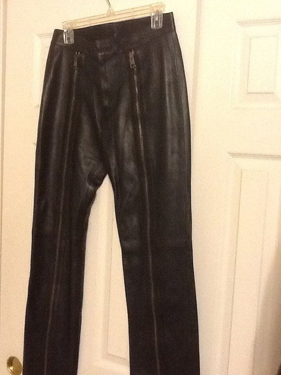 Gucci leather pants by errintab on Etsy, $275.00