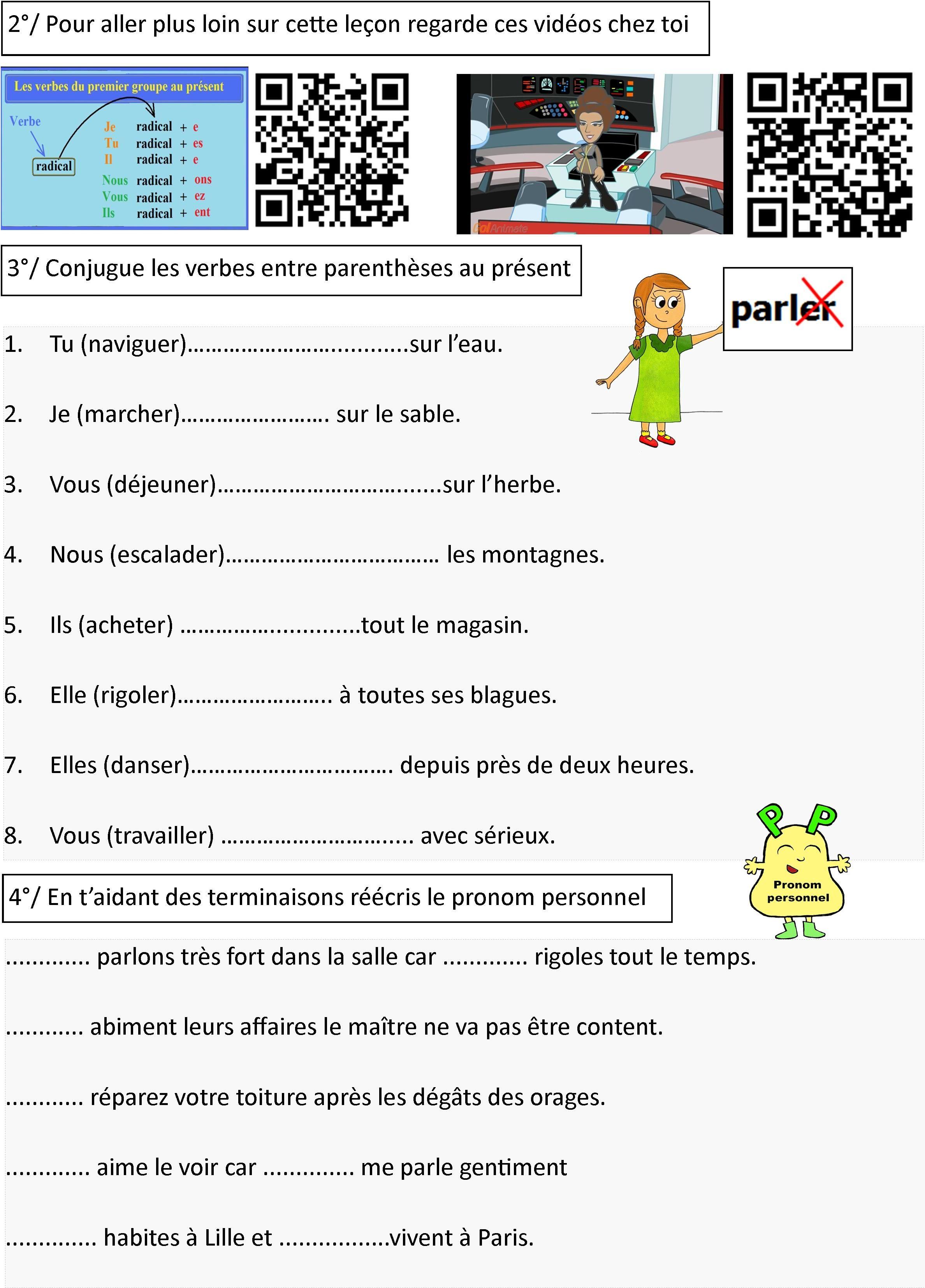 Conjugaison Le Blog De Monsieur Mathieu Enseignement Du Francais Exercice Grammaire Ce1 Exercice Ce2