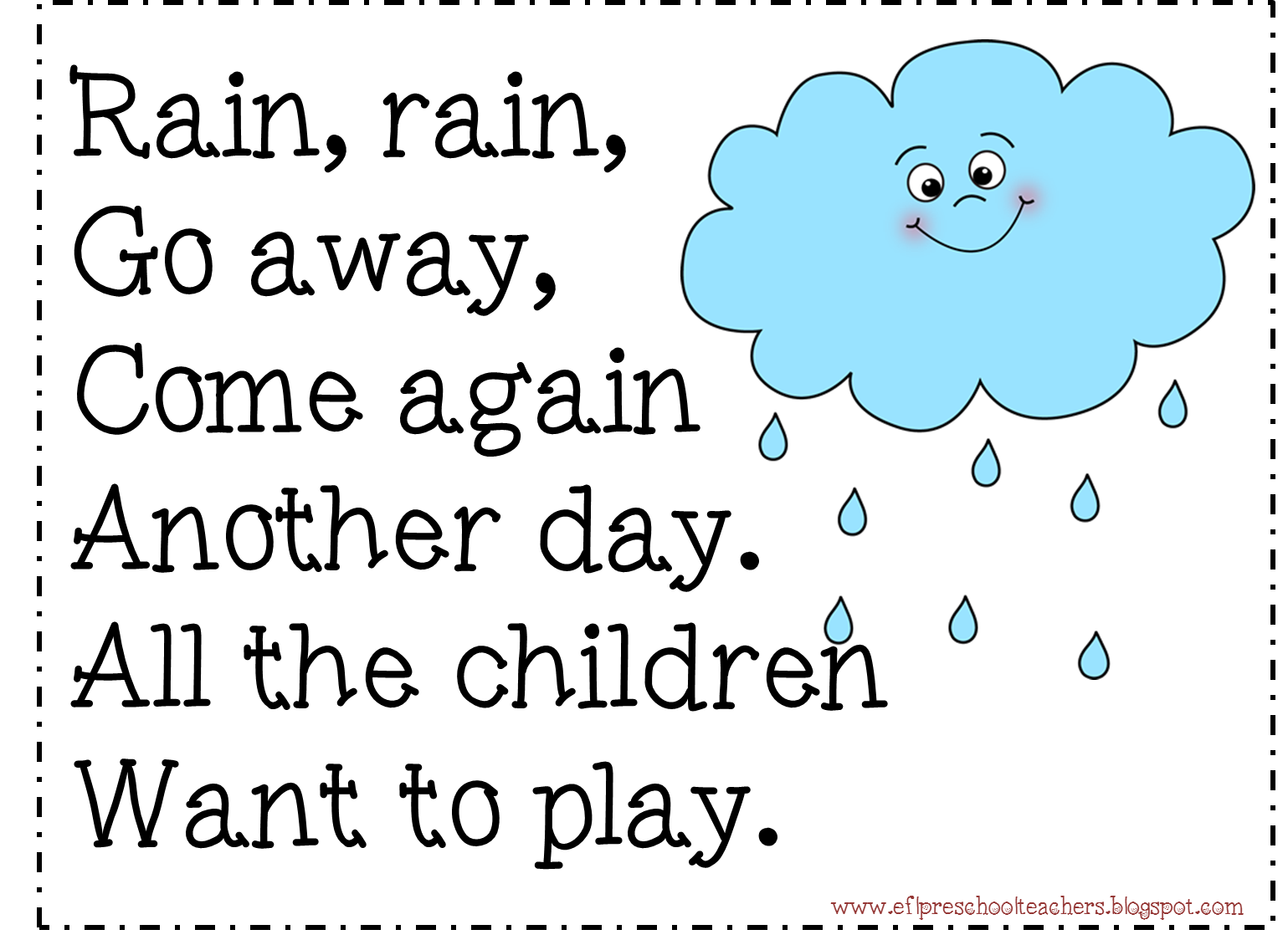 Esl Efl Preschool Teachers Weather Blog