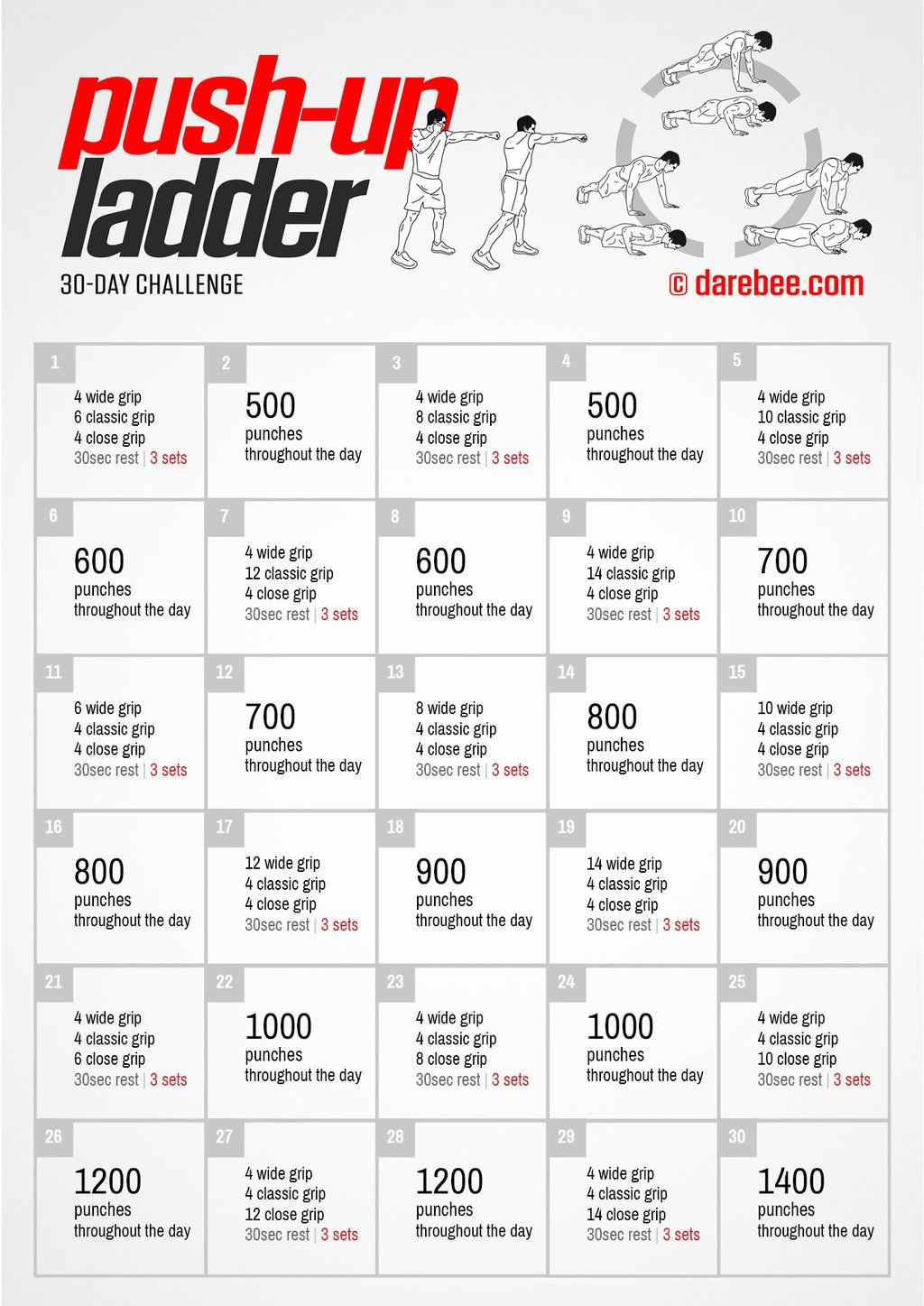 Darebee On Twitter 30 Day Pushup Challenge 30 Day Push Up 30 Day Workout Challenge