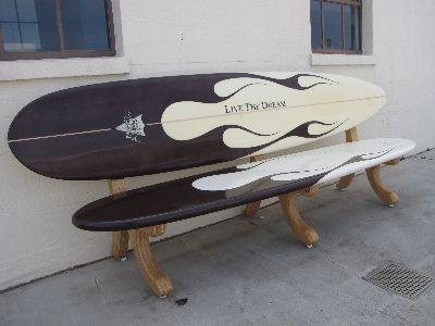 Surfboard Bench Surfbrett Dekor Surfboard Surfbrett Kunst