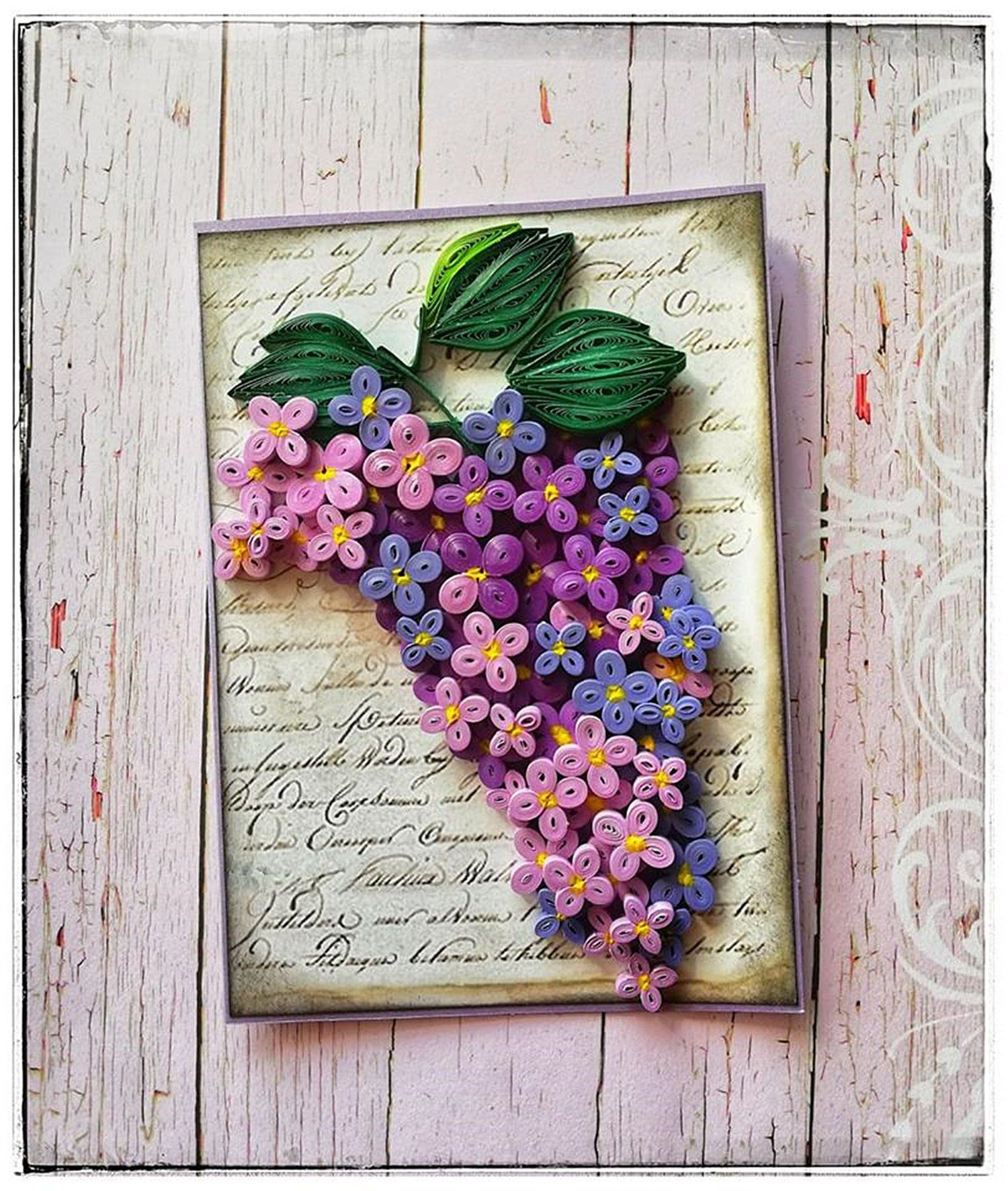 Lilac Greeting Card Cute Note Card Floral Gift For Woman Etsy Flower Birthday Cards Cards Handmade Handmade Personalized Gifts