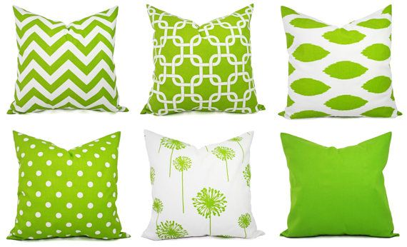 Decorative Pillow Cover Green And White Pillows Green Pillow