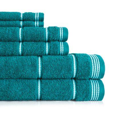 American Dawn Inc Highgate 6 Piece Towel Set In Teal Towel Set