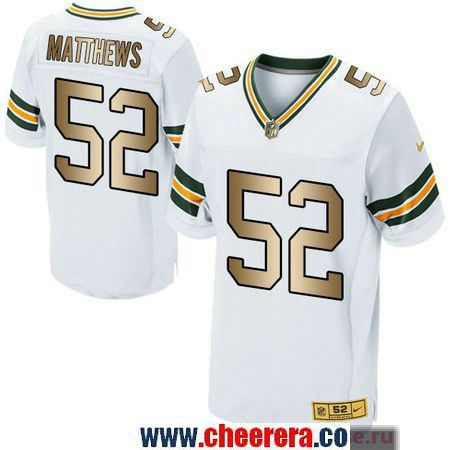 Men s Green Bay Packers  52 Clay Matthews White Gold Printed NFL Fashion Collection  Pro Line Jersey a7531d5f0