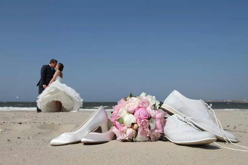 Onze bruiloft op het strand