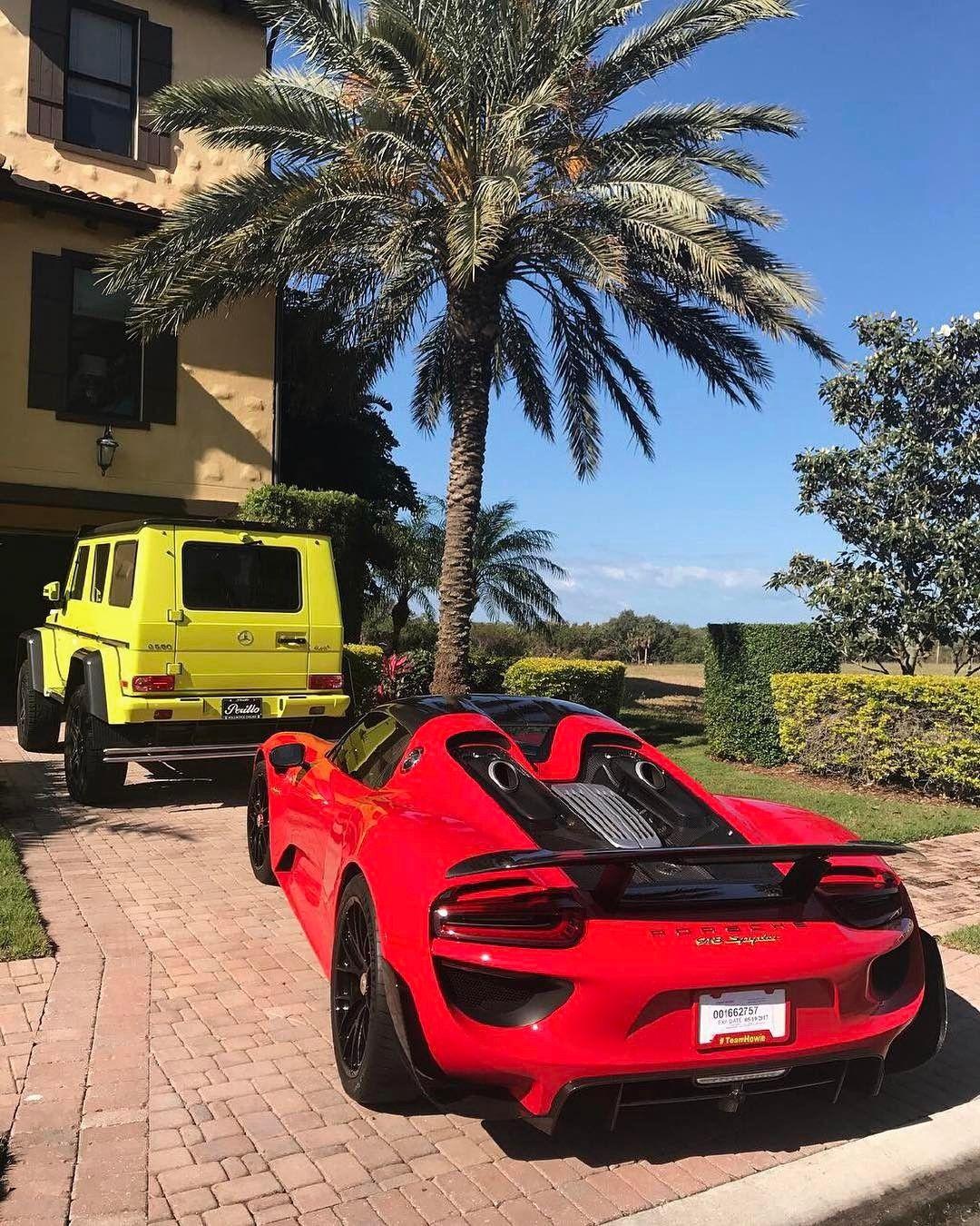 Exotic Driveway 🌴 Porsche 918 Spyder 🌶 Mercedes G 500
