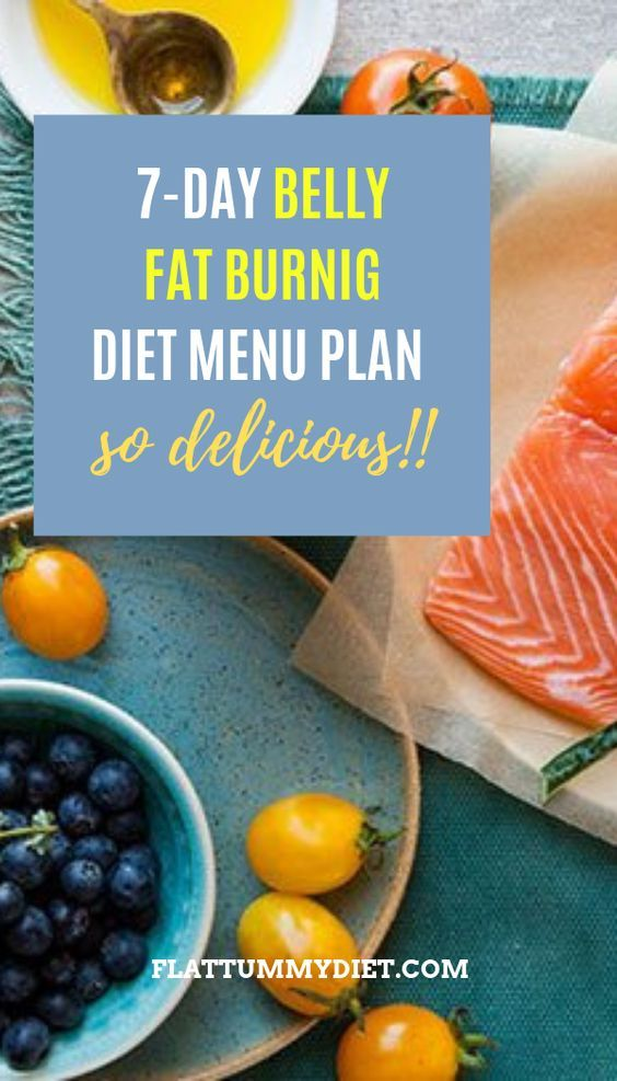 belly fat burning menu