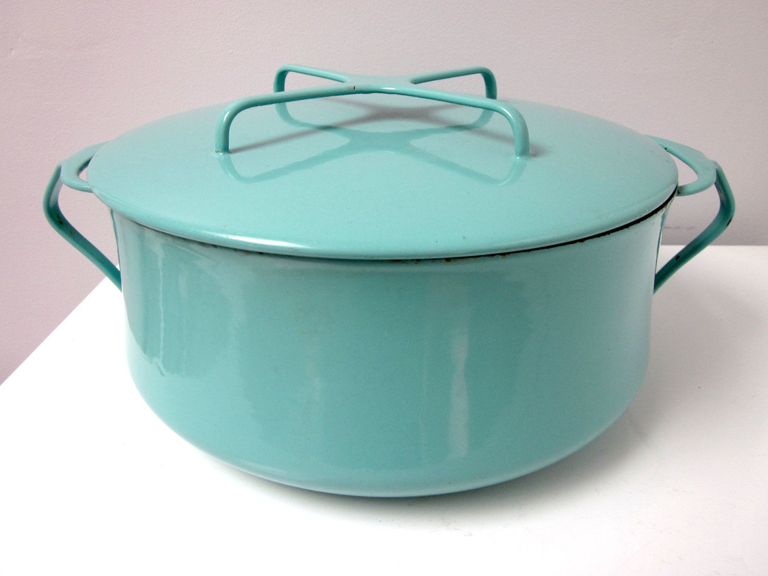 Vintage Dansk Kobenstyle Turquoise Dutch Oven By Findingamandine 55 00 Vintage Kitchen Dutch Oven Red Kitchen