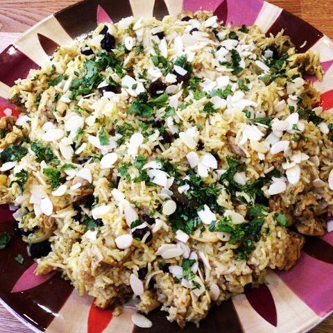 For sharing, chicken biryani.