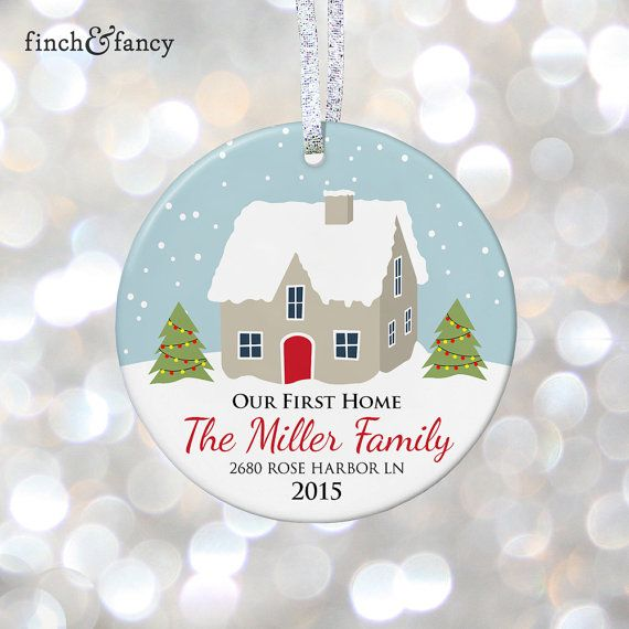 housewarming gift for couple christmas gift new home ornament our first home christmas ornament