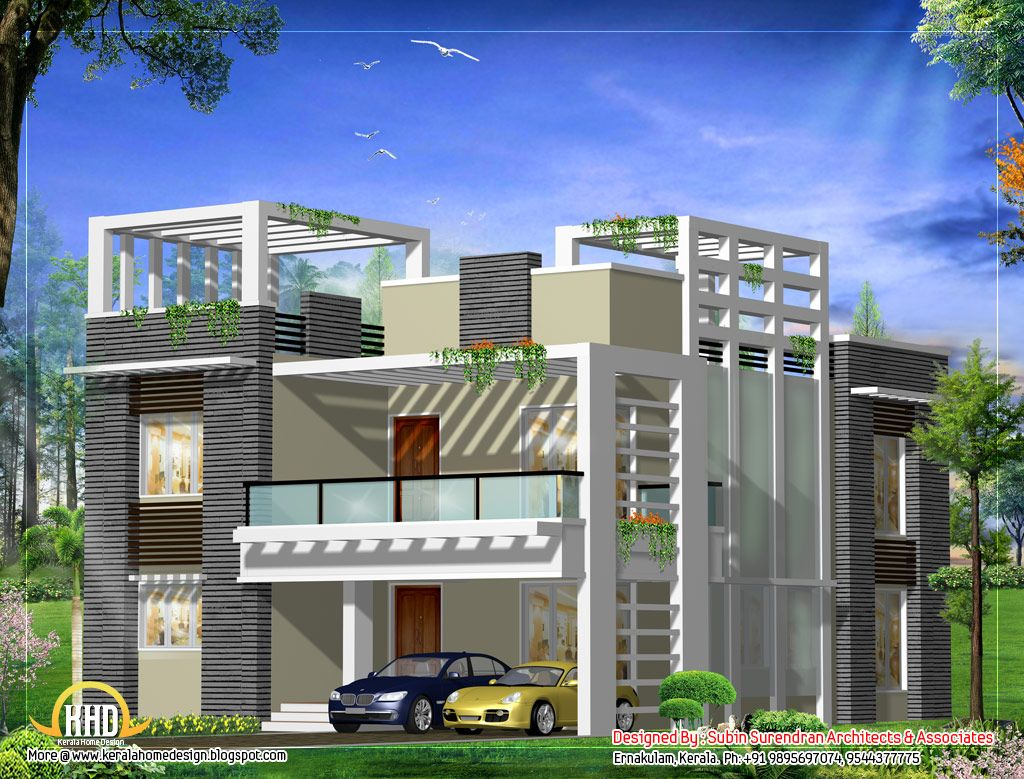March 2012 Kerala Home Design And Floor Plans Kerala House Design Modern Contemporary House Plans Modern House Design