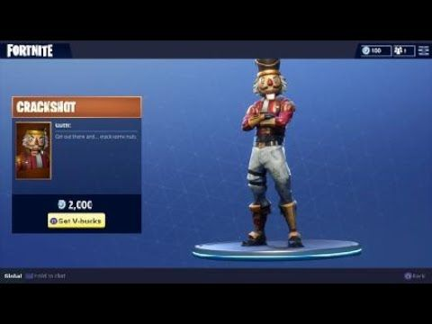 Fortnite Crackshot Outfit - Nutcracker Holiday Character -- Fortnite Battle Royale Video Game ...