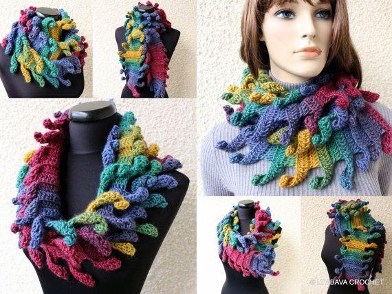 Crochet scarf multicolor scarf carnival fashion scarf crochet scarf multicolor scarf carnival fashion scarf lyubava crochet design dt1010fo