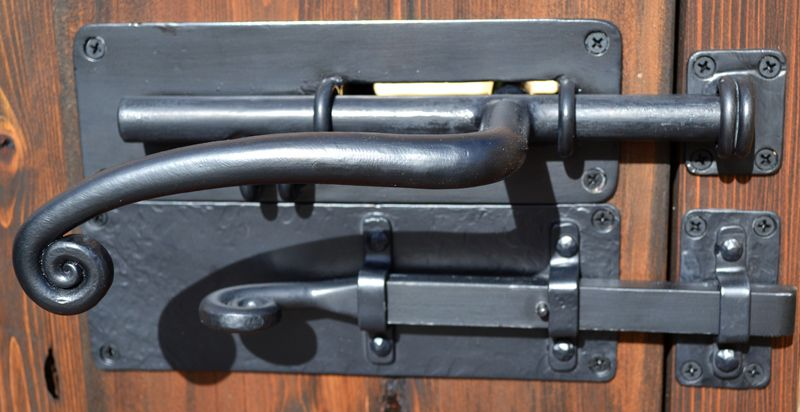 Wrought Iron Will Definitely Need Some Cool Handle Hardware Double Slide Latch Gate And Door