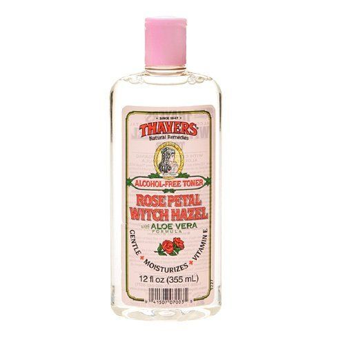 Thayers Alcohol-Free Rose Petal Witch Hazel with Aloe Vera, 12 Fluid Ounce 2 Pack Eminence Pear & Poppy Seed Microderm Polisher 2oz