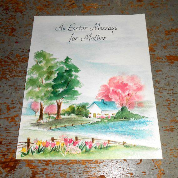 Vintage Greeting Card Easter Hallmark Mother Unused by TheBackShak, $3.00