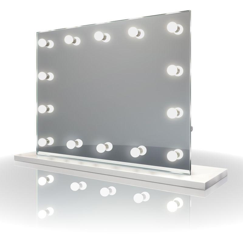 Diamond X Miroir Table De Maquillage Hollywood Audio Avec Ampoules