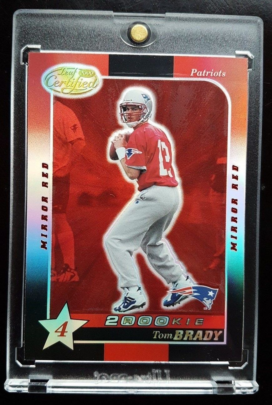 2000 tom brady leaf certified mirror red rookie rc non