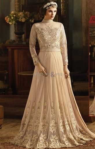 Latest Styles Designer Anarkali Dress Online Shopping With Less