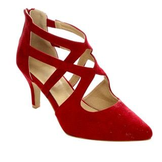 4b752066d48 Shop for Refresh AC23 Women s Criss Cross Kitten Stiletto Heels(Half A Size  Small). Free Shipping on orders over  45 at Overstock.com - Your Online  Shoes ...