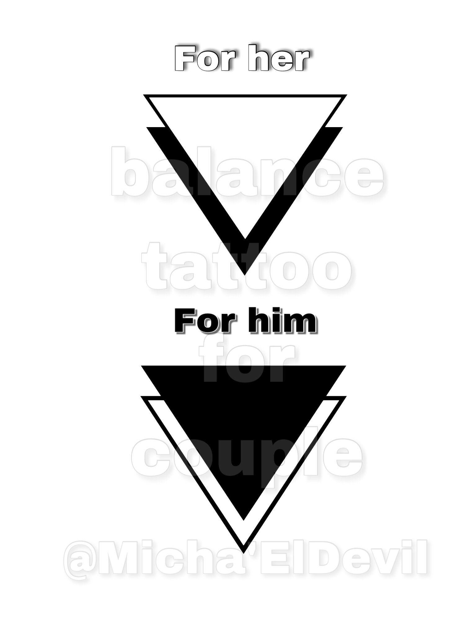 Tattoo Triangles Balance For Couple Modeles Tatouage Couple Tatouage Couple Tatouage D Equilibre