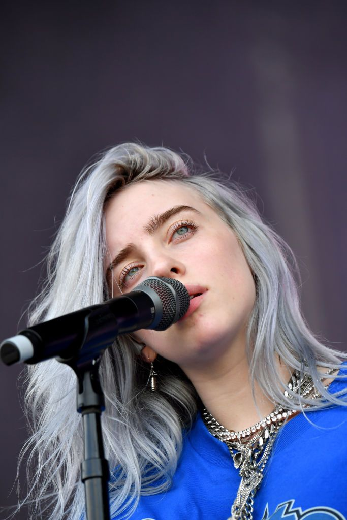 Billie Eilish performs on the Lands End Stage during the 2018 Outside...