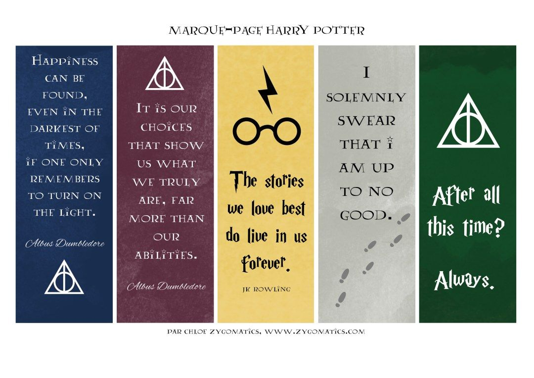 Les Marque Pages Harry Potter La Version Illustree Du Tome