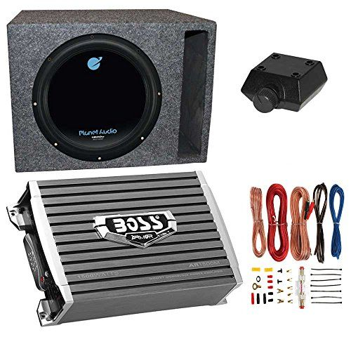 Planet Audio 1800w Subwoofer Boss 1500w Amplifier W Amp Kit Qpower Enclosure Continue To The Product At The I Car Subwoofer Subwoofer Car Audio Subwoofers