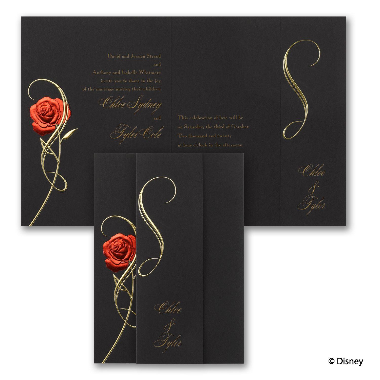 Magic spell belle invitation sam and jonus wedding pinterest