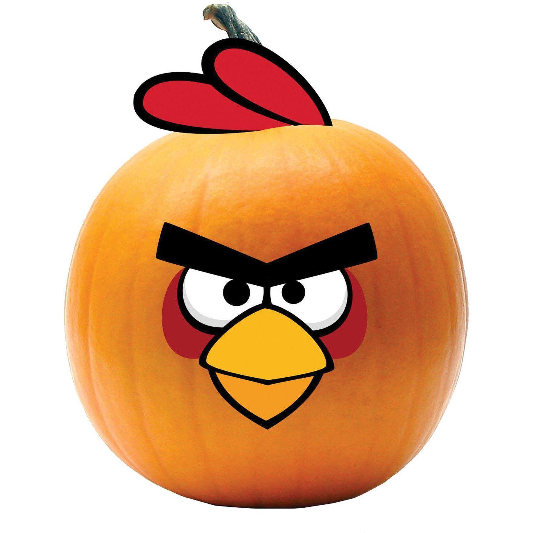 Angry bird red bird push in pumpkin designs pinterest pumpkin