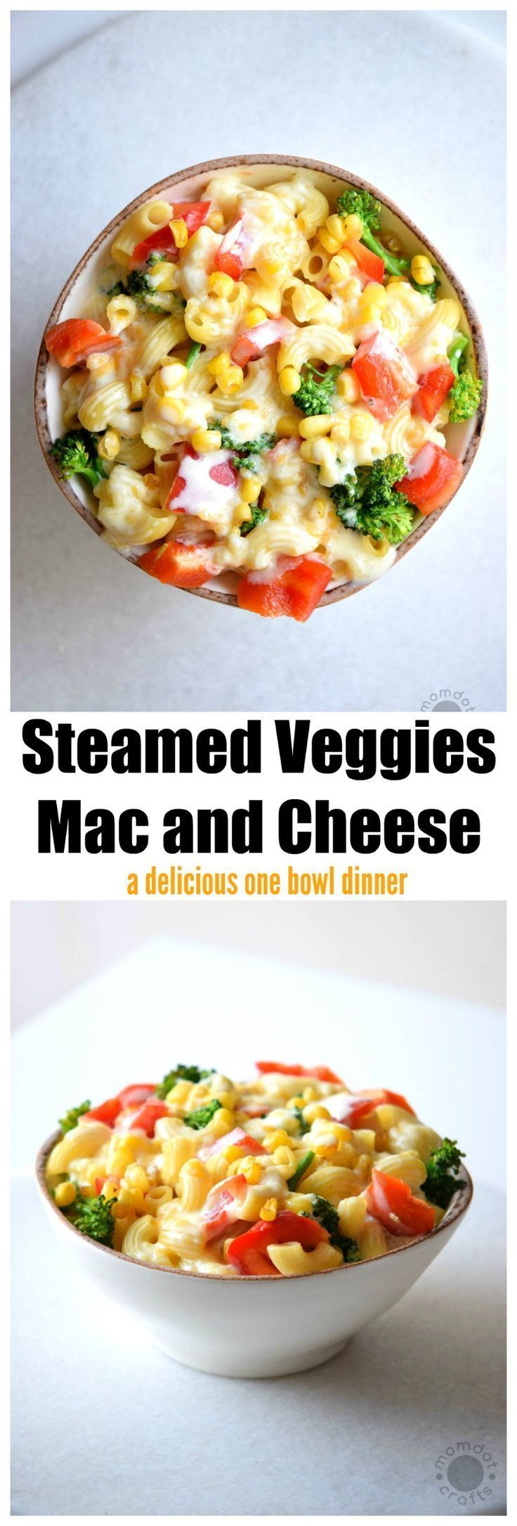 Steamed Veggies Mac and Cheese -- For an Italian version, add sun-dried tomatoes and parmesan cheese.