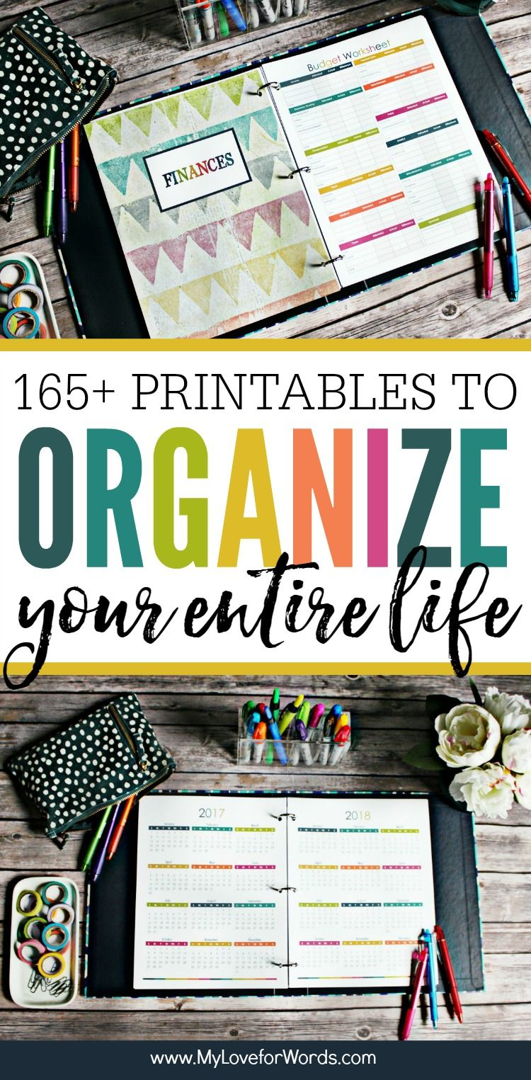 This Printable Planner Is Perfect For Organizing Your Time Daily Weekly And Monthly Activities Cleaning Routine Meal Planning Finances Kids Pets