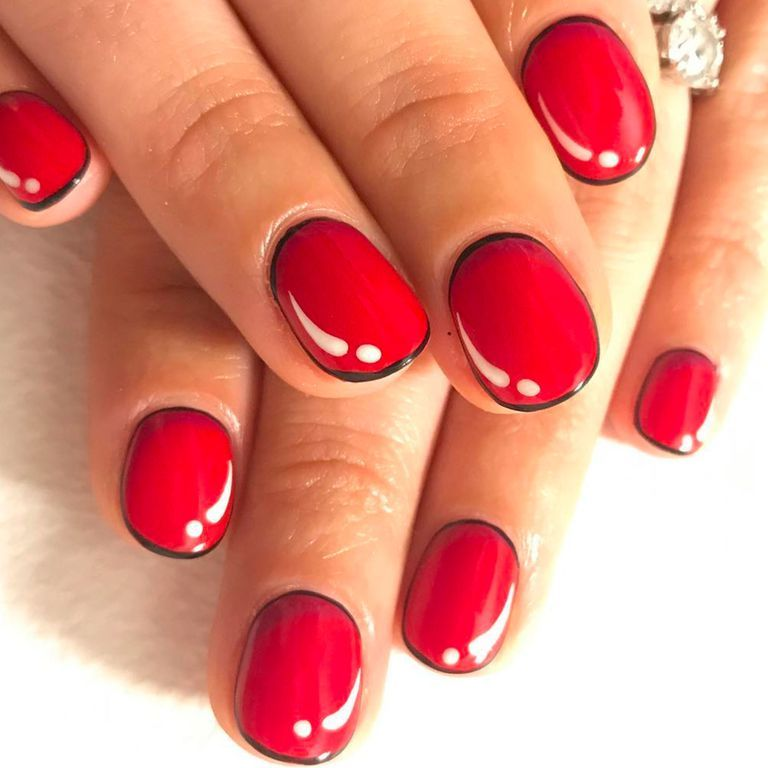 19 Non Basic Ways To Wear Red Nails Nail Designs Pinterest