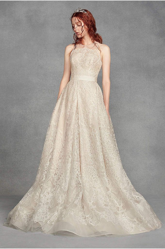 f4c6f178050e White by Vera Wang Macrame Lace Wedding Dress Style VW351400, Ivory, 0 in  2019 | Preparation for big day | Wedding dresses, Garden wedding dresses,  ...