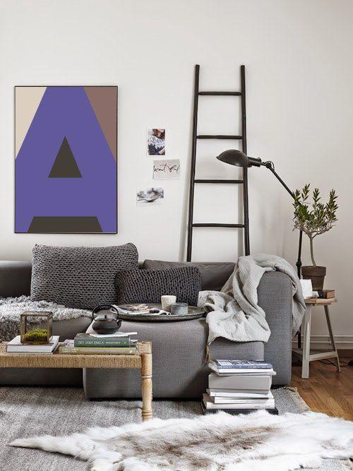 A Letter Abstract Scandinavian Print Monogram от VisualPixie