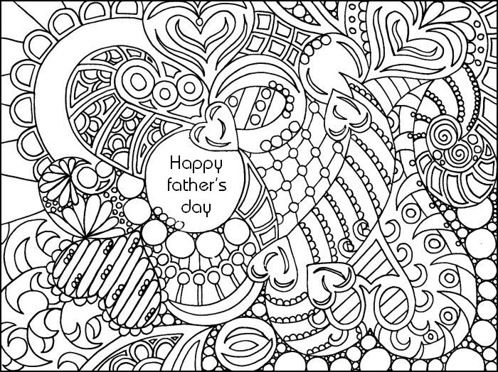 adult coloring page fathers day - Fathers Day Coloring Pages