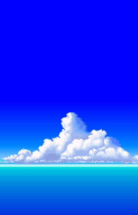 Clouds Ref Pixelart Scenery Wallpaper Pixel Art Background Beautiful Landscape Wallpaper