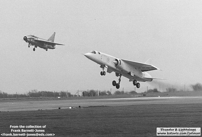 BAC TSR-2 with E.E. Lightning. I think the brits really had a winner there. Too bad it didn't get a proper chance.