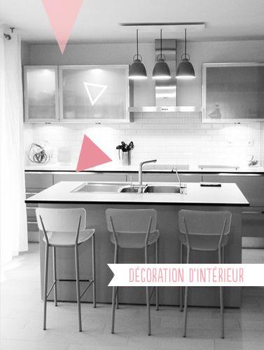 Decoration Cuisine Moderne Ilot Central By Animelie Modern Kitchen