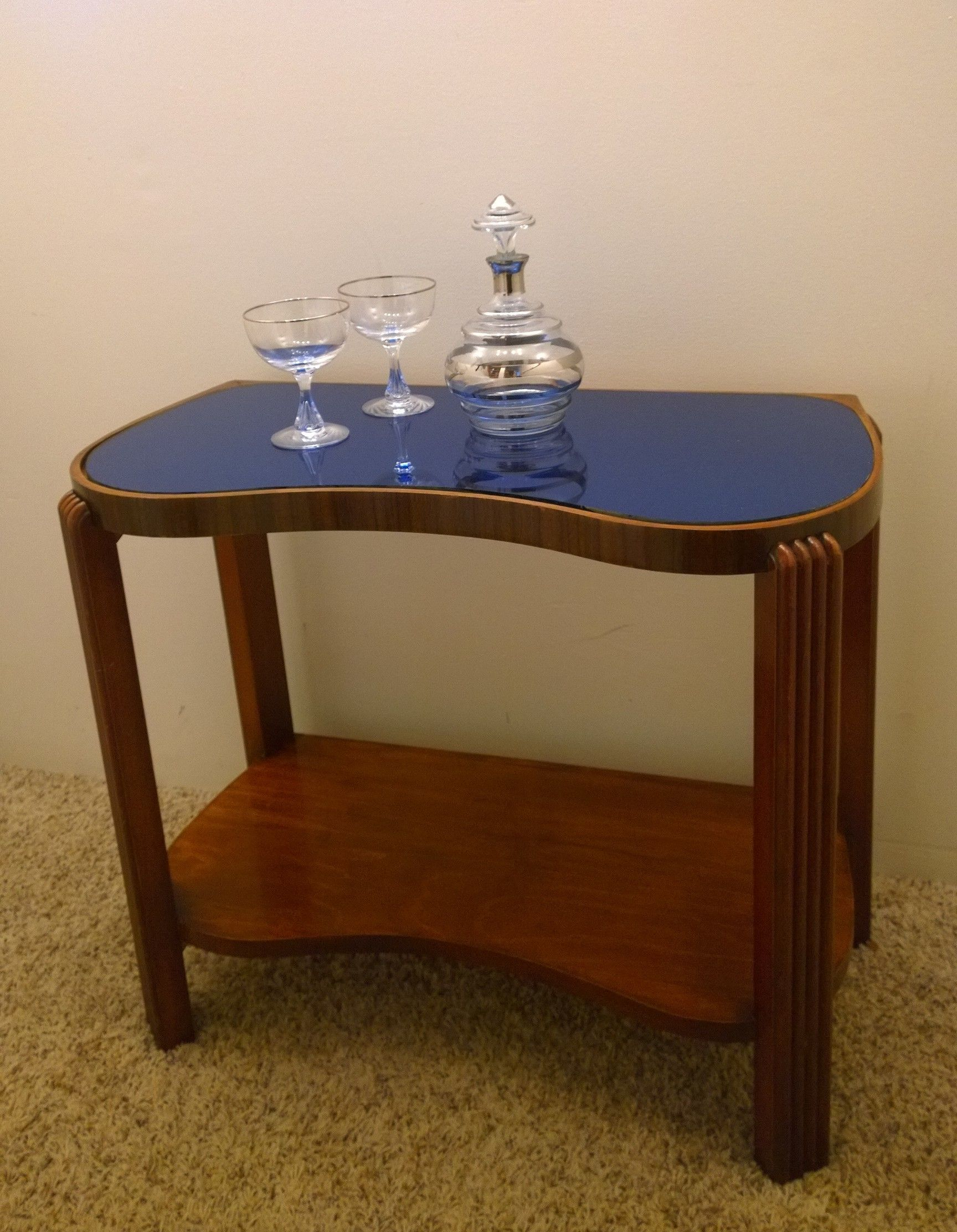 Cobalt Blue Mirror Art Deco 1930s Table The Most Beautiful Deep Blue Glass Blue Mirrors Art Deco Mirror Vintage House [ 2225 x 1728 Pixel ]